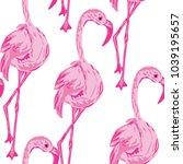 elegant seamless pattern with... | Shutterstock .eps vector #1039195657