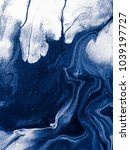 abstract hand painted blue... | Shutterstock . vector #1039197727