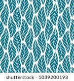 vector leaf seamless pattern.... | Shutterstock .eps vector #1039200193