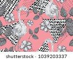 elegant seamless pattern with... | Shutterstock .eps vector #1039203337