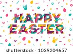 happy easter greeting card with ...   Shutterstock .eps vector #1039204657
