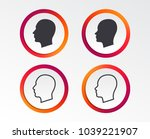 head icons. male and female... | Shutterstock .eps vector #1039221907