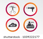 hotel services icons. wi fi ... | Shutterstock .eps vector #1039222177
