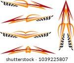 vehicle graphics  stripe  ... | Shutterstock .eps vector #1039225807