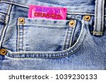 Small photo of Handwritten text showing Adapt To Changes. Business concept writing for Adaptation New Future Written on condom pack in the small pocket in the pants jeans.