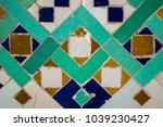 texture  moroccan ceramic tiles ... | Shutterstock . vector #1039230427