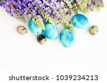 easter eggs with spring flowers | Shutterstock . vector #1039234213