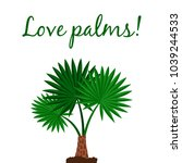 love palms vector poster with... | Shutterstock .eps vector #1039244533