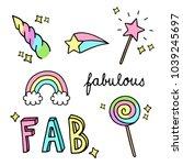 fabulous  sparkling  magic ... | Shutterstock .eps vector #1039245697