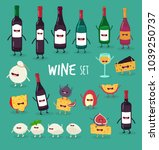 this is wine icon set. it is... | Shutterstock .eps vector #1039250737