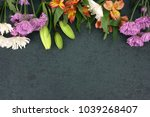 beautiful colorful flowers... | Shutterstock . vector #1039268407