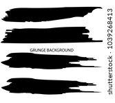 set of grunge banners.grunge... | Shutterstock .eps vector #1039268413