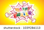 happy easter greeting card...   Shutterstock .eps vector #1039286113