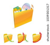 isolated file folder icon with... | Shutterstock .eps vector #1039301317