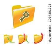 folder with master key lock... | Shutterstock .eps vector #1039301323