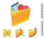 in love folder | Shutterstock .eps vector #1039301407