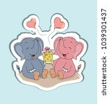 vector cartoon characters of... | Shutterstock .eps vector #1039301437