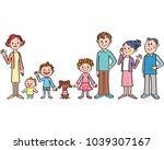 good friend three generations... | Shutterstock .eps vector #1039307167