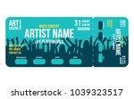 concert ticket template.... | Shutterstock .eps vector #1039323517