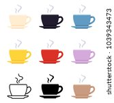 vector set of coffee cup icons. ... | Shutterstock .eps vector #1039343473