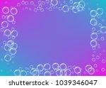 cleaning foam on gradient... | Shutterstock .eps vector #1039346047