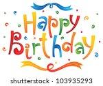 happy birthday card | Shutterstock .eps vector #103935293