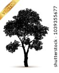 tree silhouette isolated on... | Shutterstock .eps vector #1039355677