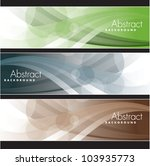 set of banners. abstract... | Shutterstock .eps vector #103935773