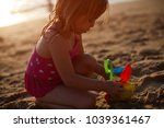 sea  sand toys child playing | Shutterstock . vector #1039361467