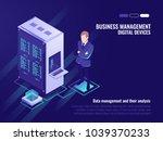data center  server room rack ... | Shutterstock .eps vector #1039370233