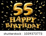 vector happy birthday 55th... | Shutterstock .eps vector #1039373773