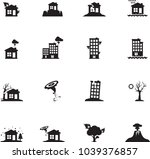 icon set for natural disaster | Shutterstock .eps vector #1039376857
