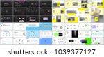 set of minimal presentation... | Shutterstock .eps vector #1039377127