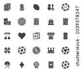 gambling casino elements vector ...   Shutterstock .eps vector #1039378147