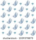 easter seamless pattern in... | Shutterstock .eps vector #1039378873