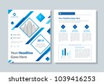 annual report  broshure  flyer  ... | Shutterstock .eps vector #1039416253