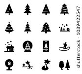 solid vector icon set  ... | Shutterstock .eps vector #1039422547