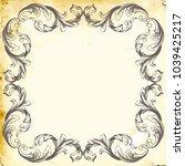 retro baroque decorations... | Shutterstock .eps vector #1039425217