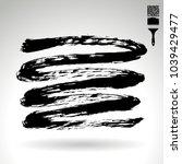 black brush stroke and texture. ... | Shutterstock .eps vector #1039429477