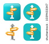 crossroad direction icon  ...