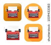 typewriter machine icon   type...   Shutterstock .eps vector #1039433383