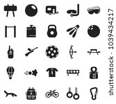 solid black vector icon set  ... | Shutterstock .eps vector #1039434217
