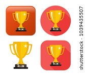 gold cup trophy icon   cup... | Shutterstock .eps vector #1039435507