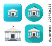 bank building icon   government ... | Shutterstock .eps vector #1039436353