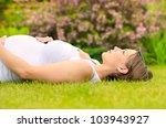 beautiful pregnant woman... | Shutterstock . vector #103943927