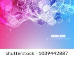 geometric abstract background... | Shutterstock .eps vector #1039442887
