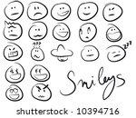 smiley smilies set | Shutterstock .eps vector #10394716