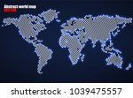 abstract world map with glowing ... | Shutterstock .eps vector #1039475557