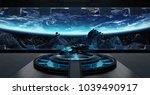 huge blueish landing strip... | Shutterstock . vector #1039490917