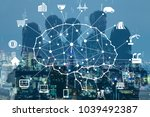business and ai artificial...   Shutterstock . vector #1039492387